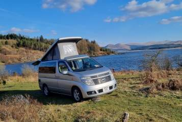 Hire a campervan in Broxburn from private owners  Nissan Ali