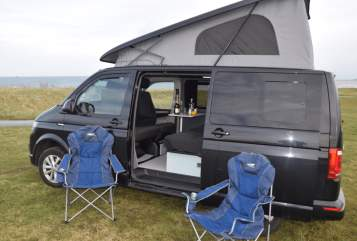Hire a campervan in Stockton-on-Tees from private owners| VW Guroo Jono's T6