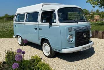Hire a campervan in Wedmore from private owners| VW Bluebell
