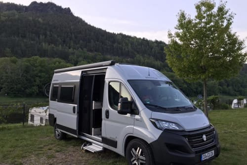 Hire a campervan in Erzhausen from private owners| Westfalia Pinot Grigio