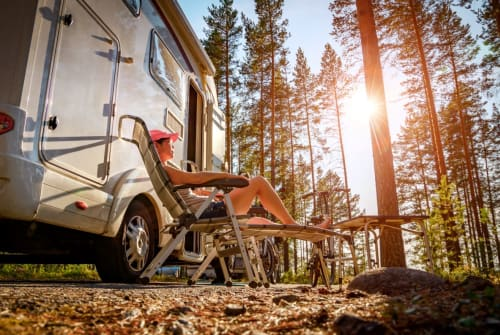 Hire a campervan in Scharbeutz from private owners  Hobby Fahrrad Hesse