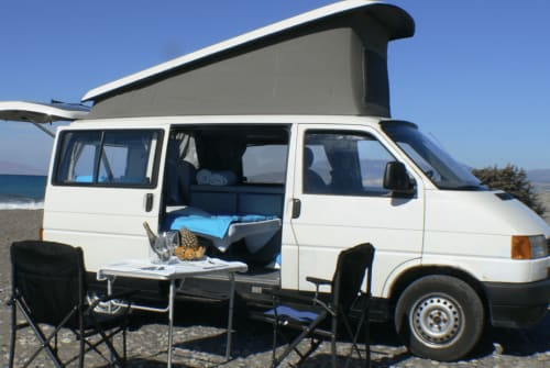 Hire a campervan in Rhodos from private owners| VW California  Helios