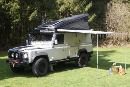 Hire a campervan in Wellington from private owners  Land Rover SIlver Belle